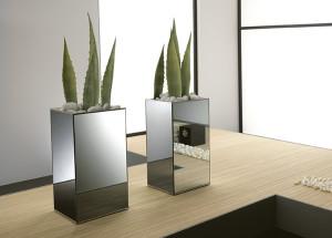 Glazen plantenbakken