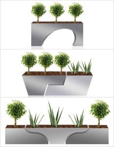 Design plantenbakken van Custom crew