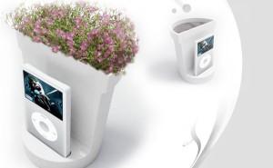 i-flower plantenbak met muziek