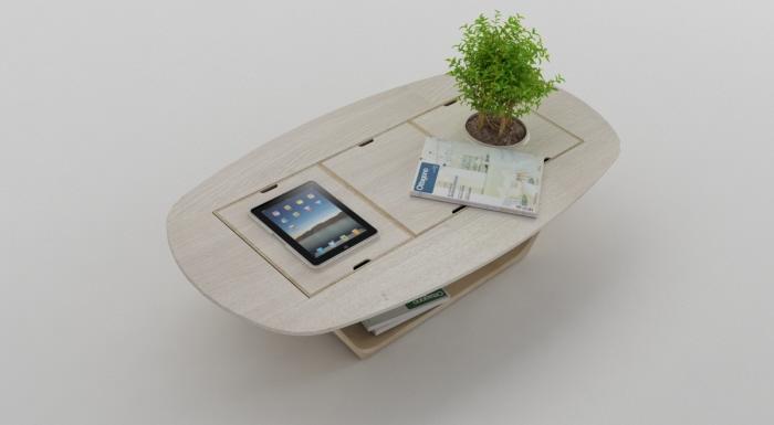 plantenbak en tafel in één