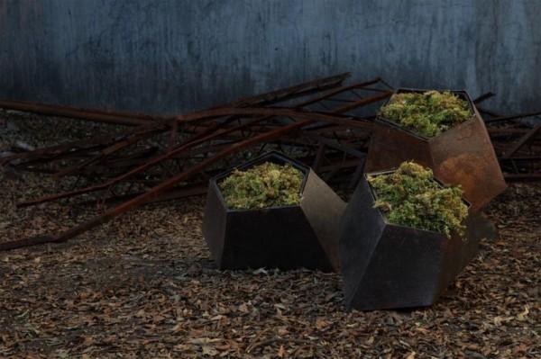 metalen plantenbakken