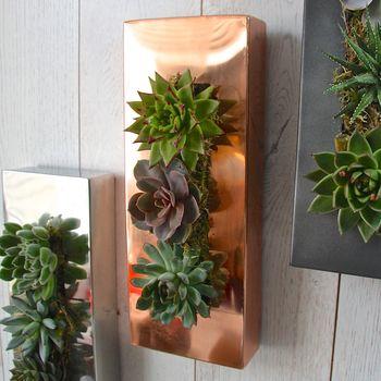 koperen hangende plantenbak